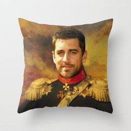 Aaron Rodgers Classical Regal General Painting Throw Pillow