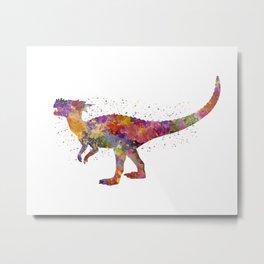 Dracorex dinosaur in watercolor Metal Print