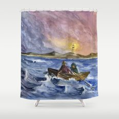 Storm Chased Shower Curtain