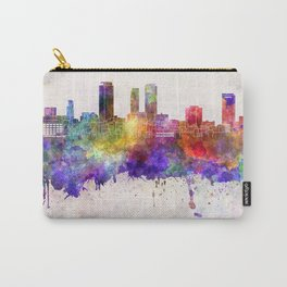 Nagoya skyline in watercolor background Carry-All Pouch