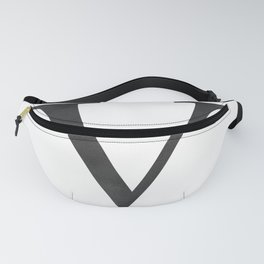 Letter V Initial Monogram Black and White Fanny Pack
