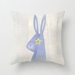 Rock Rabbit (pastels) Throw Pillow
