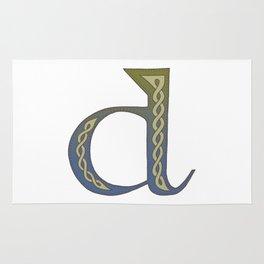Celtic Knotwork Alphabet - Letter D Rug