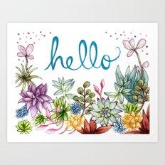 hello spring Art Print