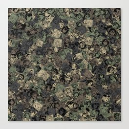 Ahegao camouflage Canvas Print