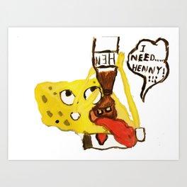 Spongebob and Henny Art Print
