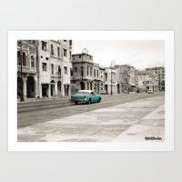 cuba Art Prints featuring Cuba by Mismoshis