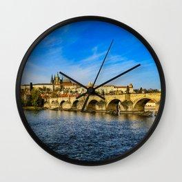 Charles Bridge in Prague Wall Clock