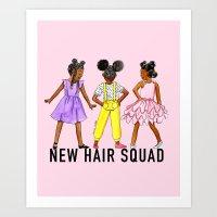 New Hair Squad Art Print