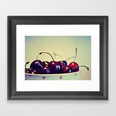 Cherry blues Framed Art Print
