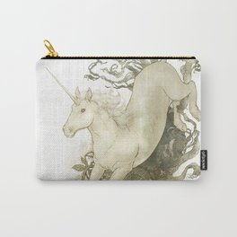 Unicorn and Silver Carry-All Pouch