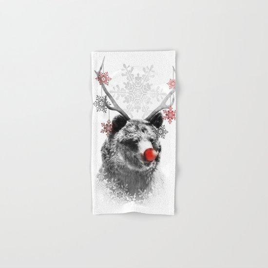 Rudolph the Bear Hand & Bath Towel
