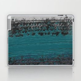 Teal and Gray Abstract Laptop & iPad Skin