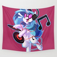 mlp Wall Tapestries featuring VINYL SCRATCH by Sutexii