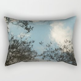 Trees and clouds reflected Rectangular Pillow