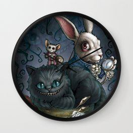 The Cheshire Cat and his friends Wall Clock
