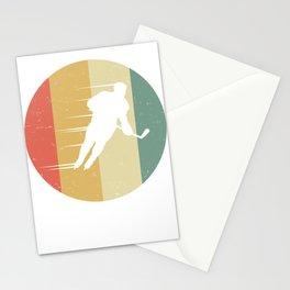 Vintage Retro Hockey Graphic Hockey player Stationery Cards