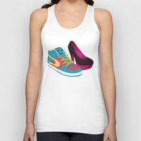 shoe Tank Tops featuring Shoe Lovin' by mrbiscuit