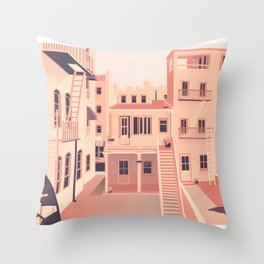 Another afternoon at home Throw Pillow