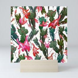 Schlumbergera Christmas cactus pattern Mini Art Print
