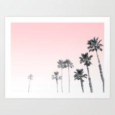 Tranquillity - pink sky Art Print