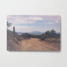 Down Desert Roads Metal Print