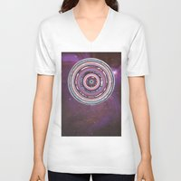 battlestar galactica V-neck T-shirts featuring Galactica by Laurie McCall