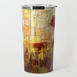 Poppies in the Sun Mosaic Travel Mug