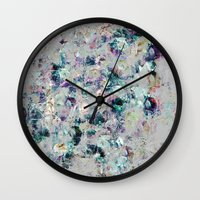mineral Wall Clocks featuring Mineral by Georgiana Paraschiv