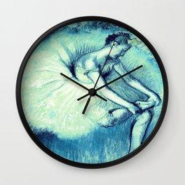 Teal Ballerina Wall Clock