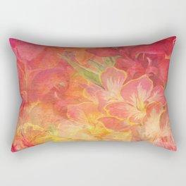 Floral Pink Flowers Vintage Pattern Romantic Bouquet Rectangular Pillow