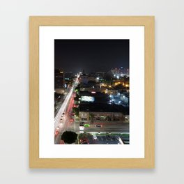 Sunset Blvd Framed Art Print