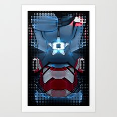 Iron/Patriot body armor. Art Print