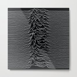 Unknown Radio Waves - Unknown Pleasures Metal Print
