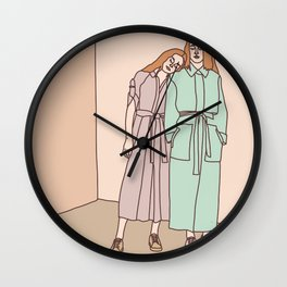 Two Sisters Wall Clock