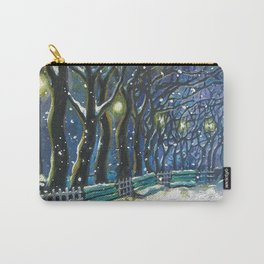 Snowy night park Carry-All Pouch