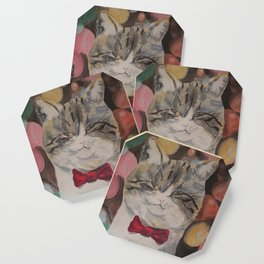 Adam the Christmas Cat Coaster