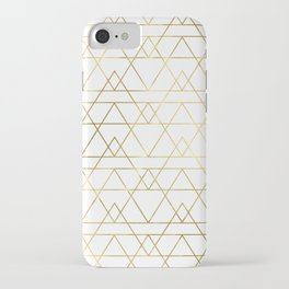 Modern Gold iPhone Case