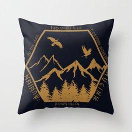 Two ravens flew Throw Pillow