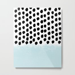 Lolita - Modern mint dots abstract painting minimal design trendy hipster decor dorm office retail  Metal Print