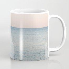 PINK SKY, BLUE SEA, EVENING SWIM Coffee Mug