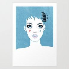 Сrying girl Art Print