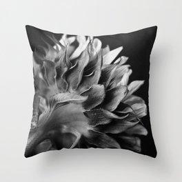 Sunflower (B&W) Throw Pillow