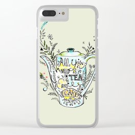 All You Need is Tea & Cake - 2 Clear iPhone Case