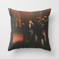 sam smith Throw Pillows featuring Sam Smith by sallyclaark