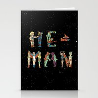 he man Stationery Cards featuring He man parody by Coffee Man
