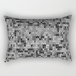 Heathered knit textile 4 Rectangular Pillow