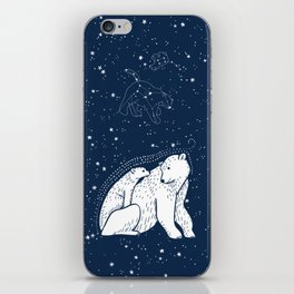 Polar Bear and Constellation Arctic Night Sky Stars iPhone Skin