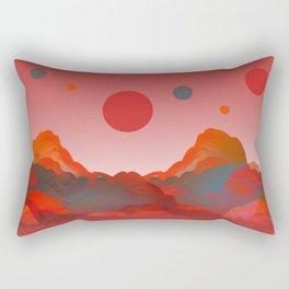 """""""Coral Pink Sci-Fi Mountains"""" Rectangular Pillow"""