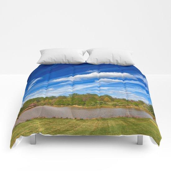 Meadowlark Cloud Gardens Comforters